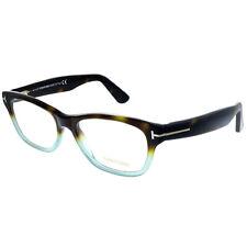 New Authentic Tom Ford FT 5425 056 Havana Green Plastic Eyeglasses 53mm