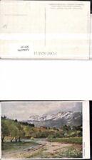 307135,Künstler AK Hugo Darnaut Reichenau Raxalpe Bergkulisse