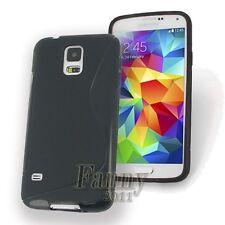 Gel TPU Black Case Skin Cover for Samsung Galaxy S5 / S5 Neo, G900 G903