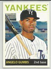 Angelo Gumbs New York Yankees 2013 Topps Heritage Minor League
