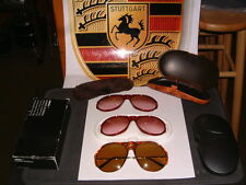 PORSCHE DESIGN -5659 GERMAN MADE SUNGLASSES WITH 3 NOS SETS OF LENSES W/CASE!