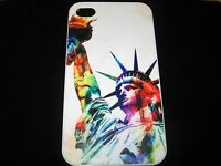 Statue Of Liberty Hard Cover Case for iPhone 4 4s  New White w/ Multi-Color Case