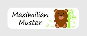 108 Etiketten Aufkleber Namensaufkleber Namen Bär Wald Tier Kinder Schule A135