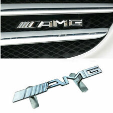 Car AMG GRILL BADGE FOR Mercedes-Benz Metal Front Grille Auto Emblem Sticker New