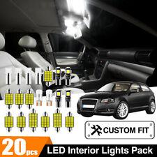Car Interior LED Trunk Cabin Cargo Lights Globes Kit For Audi A3 8P 2003-2013