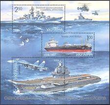Ukraine 2004 Ship Building/Ships/Navy/Industry/Aircraft/Boats 3v m/s (n44016)