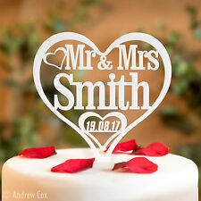 Mr and Mrs Personalised Wedding Cake Toppers - Surname Topper & Decorations MM2