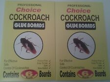 2 x 6  COCKROACH /  INSECT GLUE TRAPS EFFECTIVE AND SAFE