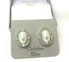 Vintage Jewellery Stunning Chr Dior Faux Pearl And Rhinestones Clip On Earrings