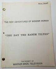 "WONDER WOMAN / Daniel B. Ullman 1977 TV Script, ""The Man Who Made Volcanoes"""