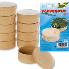 Oster-Bastelset: 10 ovale Pappboxen, Geschenkbox f. Ostergeschenk selber basteln