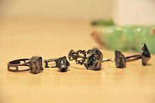 Elite shungite ring jewelry stone noble schungit crystal hair grip slide SR05