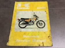 Genuine Kawasaki KH100 Motorcycle Service Shop Manual 99924-1004-01