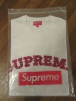 Supreme Plaid Applique S/S Top Size Medium White FW20 Supreme New York FW20KN86