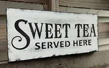 farmhouse wood sign SWEET TEA home decor wooden rustic country kitchen family