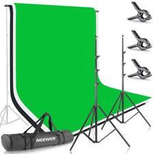 Neewer 2,6x3m Sistema di Supporto & 3pz Fondale Colorato 1,8x2,8m per Foto Video