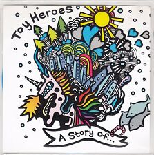 """TOY HEROES - A STORY OF... 7"""" blue vinyl - Pink Box Records Pink010 - Leicester"""