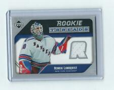 2005-06 UD ROOKIE THREADS JERSEY HENRIK LUNQVIST #RT-HL