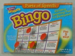 Parts of Speech Bingo game Trend homeschool classroom see description