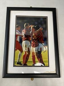 Paul Scholes Signed Manchester United Photo With Frame - Signature with COA