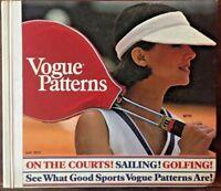 Vogue May 1975 Sewing Pattern Counter Catalog Vintage Retro Fashion Book