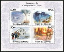 Comoros 2010 MNH SS, Natural Disaster Tsunami Floods Forest Fire Environment