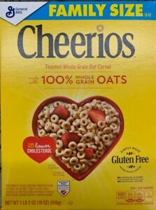 NEW GENERAL MILLS FAMILY SIZE CHEERIOS CEREAL 18 OZ BOX TOASTED WHOLE GRAIN OAT