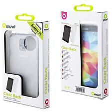 (RV413) JOBLOT of 42 x Muvit MUCRY0025 Clear Back Cover for Samsung Galaxy S5