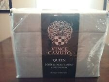 New Vince Camuto 1000 Thread Count Queen Bed Sheet Set Cotton Rich 6-Piece grey