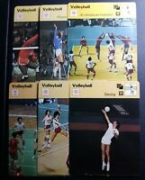 1977-79 SPORTSCASTER VOLLEYBALL 6 CARD LOT
