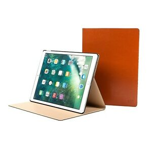 "iPad Pro 12.9"" 1st & 2nd Gen Genuine Cowhide Leather Stand Case w/ Sleep-Wake"