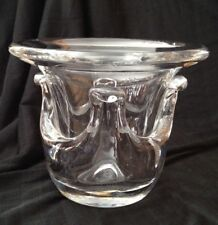 Cristal Art Verrier Saint Louis France Hand Blown Crystal Vase with Deep Relief