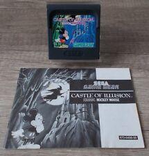 Sega Game Gear ► Castle of Illusion Star anillo mickey mouse ◄ módulo & instrucciones