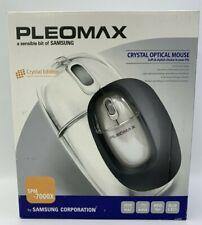 NEW PLEOMAX by SAMSUNG SPM-7000X Crystal Edition Optical Mouse 800dpi White NIB