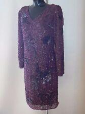 SAVOIR Cowl Back Embellished Dress Size 10 NEW TAGS