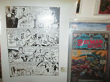 JACK KIRBY PROOF LARGE ART 1st MANHUNTER 1942 Adventure Comics 73 Adler Pedigree