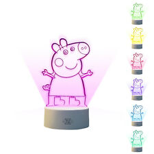 Peppa Pig toy Night light Pepa lamp party supplies Kid Gift