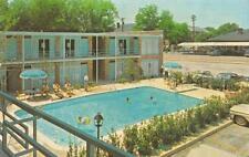 Sc, South Carolina Heart Of Spartanburg Motel~Pool Chrome Roadside Postcard