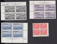 Canada 1951 Stamp centenary Mh/MNH blocks