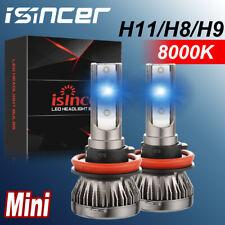 H11 H8 H9 LED Headlight Bulb 55W 8000LM Kit High/Low Beam Upgrade 8000K Ice Blue