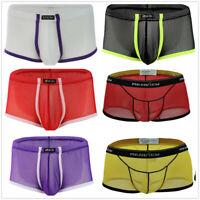 US Men Sexy Mesh Brief Underwear Lingerie Thong G-String Underpants Bikini Boxer