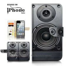 ( For iPhone 5 / 5S ) Wallet Case Cover P21057 Boom Box
