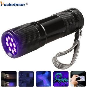 LED UV Flashlight torch 395nm Purple Violet Light linterna Ultraviolet Detector