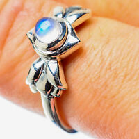 Rainbow Moonstone 925 Sterling Silver Ring Size 8.25 Ana Co Jewelry R25838F