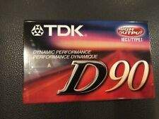New listing Tdk Blank Cassette Tape New Sealed (High output Ieci/Type I
