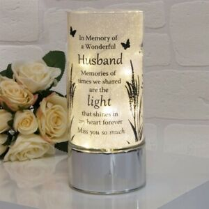 Thoughts Of You In Memory Of Husband Remembrance Memorial LED Light tube