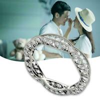 Fashion Damen Kupferringe Rundschnitt Weißer Saphir Größe Ehering 6 10 A8X8 T4G5