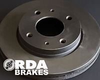 RDA Slotted And Dimpled Brake Rotor Pair Front RDA504D FOR Ford LTD 5.4 V8 (...