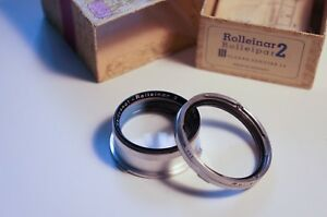 Rolleiflex Bay III Rolleinar 2 filter with case for 2.8F, 2.8E, 2.8D, 2.8C etc