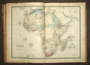 ATLAS ANCIEN COMPOSITE DE ANDRIVEAU GOUJON  1836 old antic atlas and map